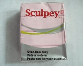 Sculpey III, Sculpey 3, Polymer Clay Block, 56 grams, 1.97 oz, Never Used, Original Packaging, Polymer Clay Supplies, Fimo, Sculpey