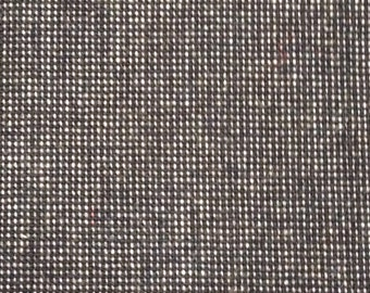 3 1/8 Yards 60 W 80s navy blue wool plaid suiting fabric
