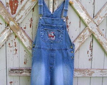 Mickey Pride - vintage Mickey Mouse shorts overalls XL