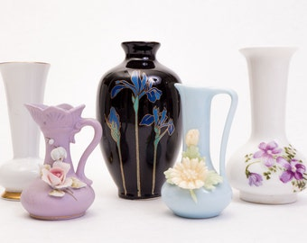 Five Little Ceramic Vases, Instant Collection