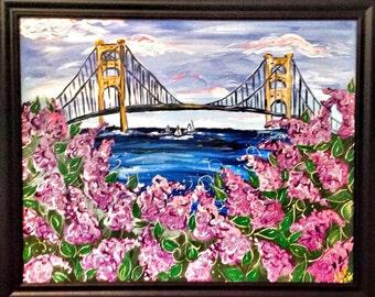 Lilacs at The Mac- Framed, Free Shipping!