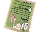 Zoo Animals Card - Greeting, Birthday, Blank Card - Science - Lions, Giraffes, and Gorillas - Oh my!