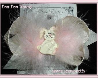 EASTER HAIR BOWS, Easter Bunny hair bows, Easter Rabbit Hair Bow, Over the Top Easter hair bows,Marabou Hair Bows,Easter Charms on hair bows