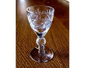 1930's Morgantown Glass Crystal with Hand Cutting Golf Ball Art Deco Cordial