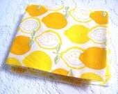 Fabric Scraps - Fabric Remnants - Quilting Supplies - Juicy Lemons - Lemon Fabric