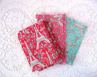Fabric Scraps - Destash Fabric - Quilt Supplies - Remnants - Eiffel Tower - Paris France