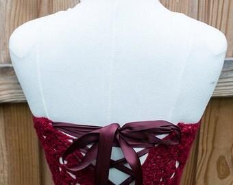 Cherry Blossom Corset Halter Crochet Pattern