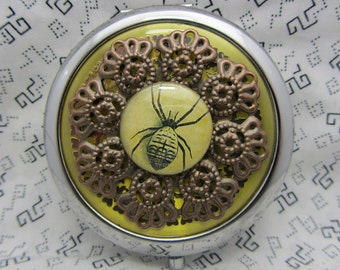 Compact Mirror The Spider Comes With Protective Pouch