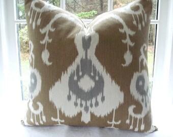 CHOOSE YOUR DESIGN-BothSides-- Ikat - Paisley- Geometric  PillowCover--Designer Fabric-Throw /Lumbar  Pillow