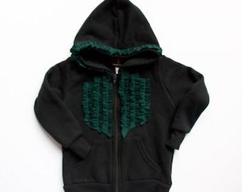 Ruffled Zip Up hoodie • baby & toddler hoodie