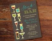 Stock the bar shower invitation (custom), printable file