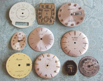 Vintage Antique Watch  Assortment Faces - Steampunk - Scrapbooking v95