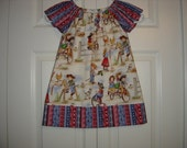 Cowgirl Peasant Style Dress   Size 3T-7/8
