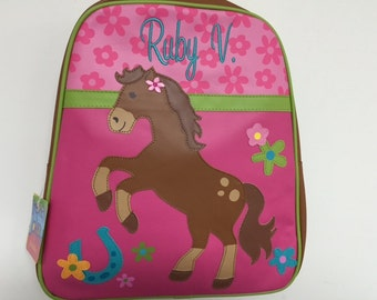 Vinyl Stephen Joseph Horse Backpack Diaperbag