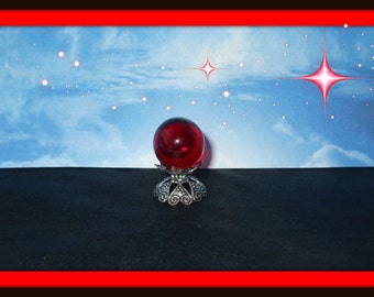 Gothic Witch Wizard Magic Crystalball dollhouse miniature