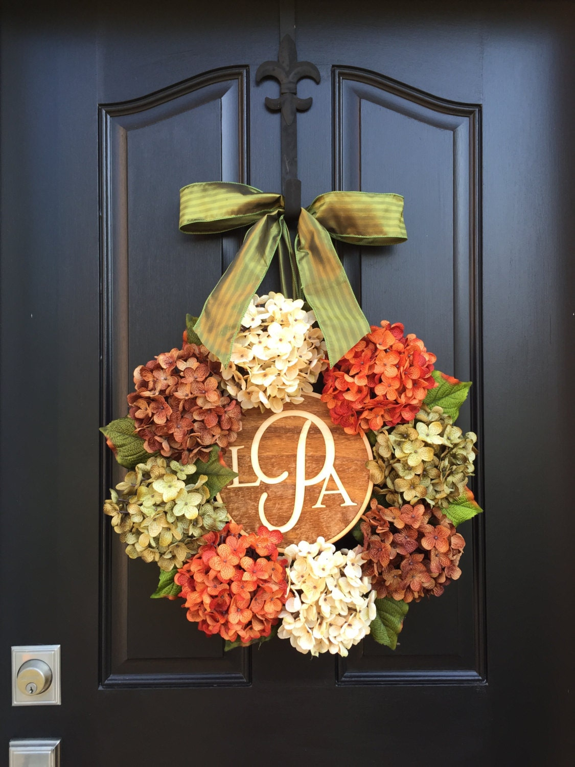 Fall Wreath Holiday Wreath Thanksgiving Wreaths By