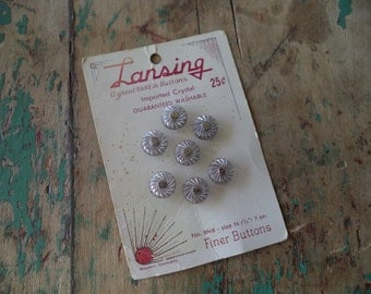 Vintage Carded Glass Buttons