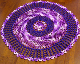 Large Lots of Purple Doily - ready to ship - crochet