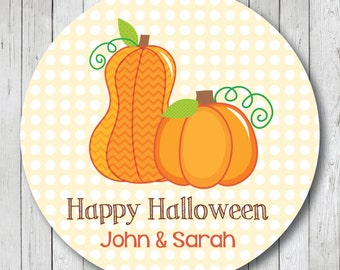 Pumpkin Patch Personalized Halloween Stickers, Labels or Tags