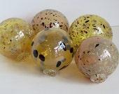 Gold Floats, Set of 5 Dec...