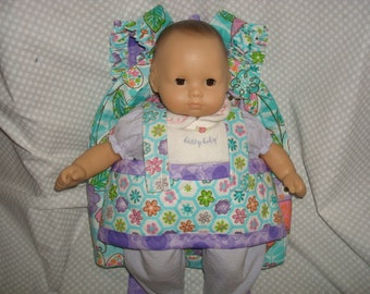 Baby  Doll Carrier in Little Hoot with coordinating accents