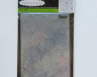 Foliage embossing folder - Darice folders - embossing folders - leaves folder - a2 folder - card making - gift for crafter - Card Embossing
