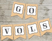 Tennessee Go Vols Chevron Printable Banner
