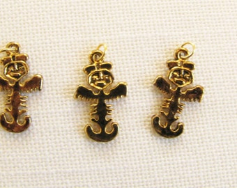 Native American Charm Totem Charm Necklace, Bracelet Earring jewelry Supply Brass Gold