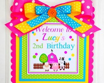 Barnyard Door Sign, Barnyard Party Decorations, Barnyard Birthday Party, Welcome Door Hanger