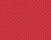 Bloom & Bliss Red Cross Hatch Rosebud Fabric by Nadra Ridgeway for Riley Blake sold in 1/2 yard increments