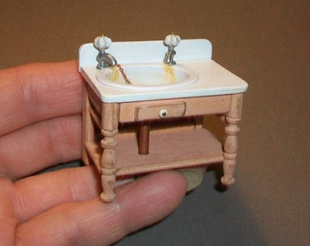 Tiny Half Scale Sink  - 1:24 scale