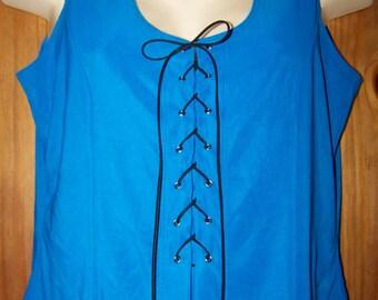 Blue Plus Size 2X, Women's Plus Size, Tank Top, Blue Tank Top, Plus Size Clothing, Plus Size Clothes