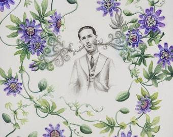 Passion Flower Dreamer II Archival Fine Art Print