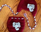 Crochet Alabama Hat Diaper Cover Baby Set