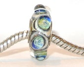BHB Lampwork Glass Bead fits Troll  Biagi Chamilia and all other big hole bead European Bracelets - Sweet Dreams BHB
