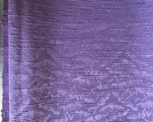 Vintage Lilac Purple Cotton Jacquard Pillow Curtain Crafting Barkcloth Fabric - 1 Plus yards - Upholstery Weight Grade Soft Supply Woven