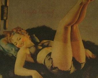 Pinup Girl 'Weight Control' Elvgren UNFRAMED 1940's SALE