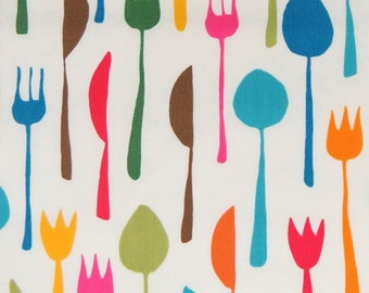 2627A -- Table Cutlery Fabric in Ivory, Fork Knife Spoon Fabric