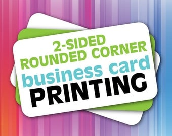Custom  2 Sided Business Cards ROUNDED Corners - Printing & Design - FREE SHIPPING
