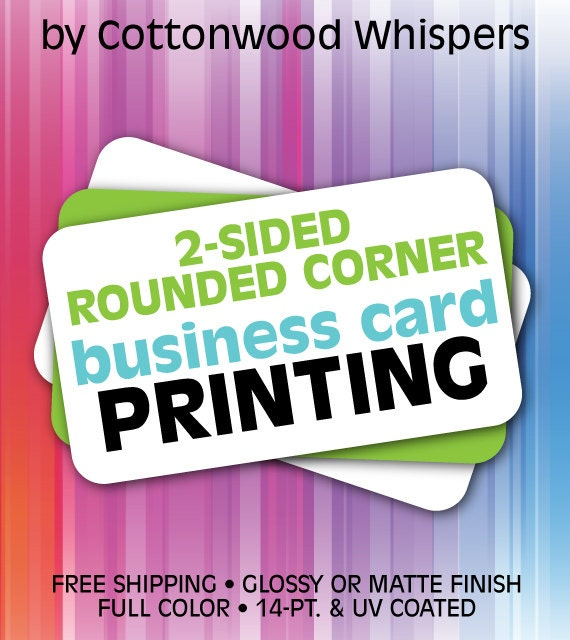 Custom 2 Sided Business Cards ROUNDED Corners Printing