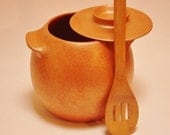 Bean Pot, 3.75 Qt., Micaceous Clay, Clay Chili Pot, Pottery Soup Pot