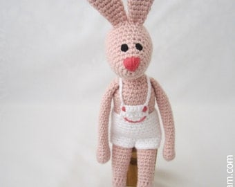 Crocheted  Bunny -  made from certified 100%  organic cotton yarn