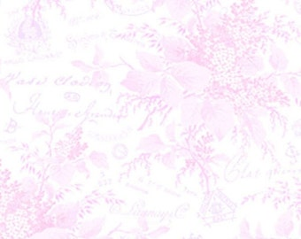 SALE Sausalito Cottage by Lakehouse Floral Toile in Pink one yard