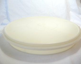 vintage Tupperware Tray, plastic Platter, Tray lid, vintage housewares, vintage kitchen, vintage storage, vintage container, unique Tray