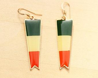 Vintage Irish Flag Earrings