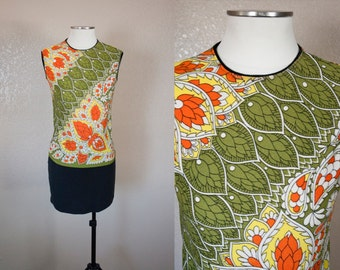 Groovy Zio Luigi 1960s patterned top | M