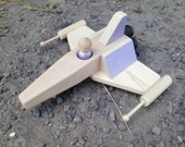 Wooden Toy Starfighter - a waldorf inspired airplane jet plane starship space ship