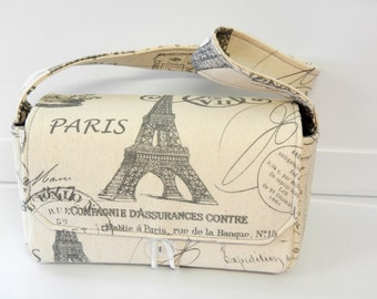 Medium Size Coupon Organizer Holder - Attaches to your shopping cart - Eiffel Tower