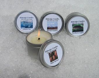ALASKA  SAMPLER (four 2-oz soy candles)
