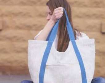 Poolside Tote Sewing Pattern by Noodlehead Handbag